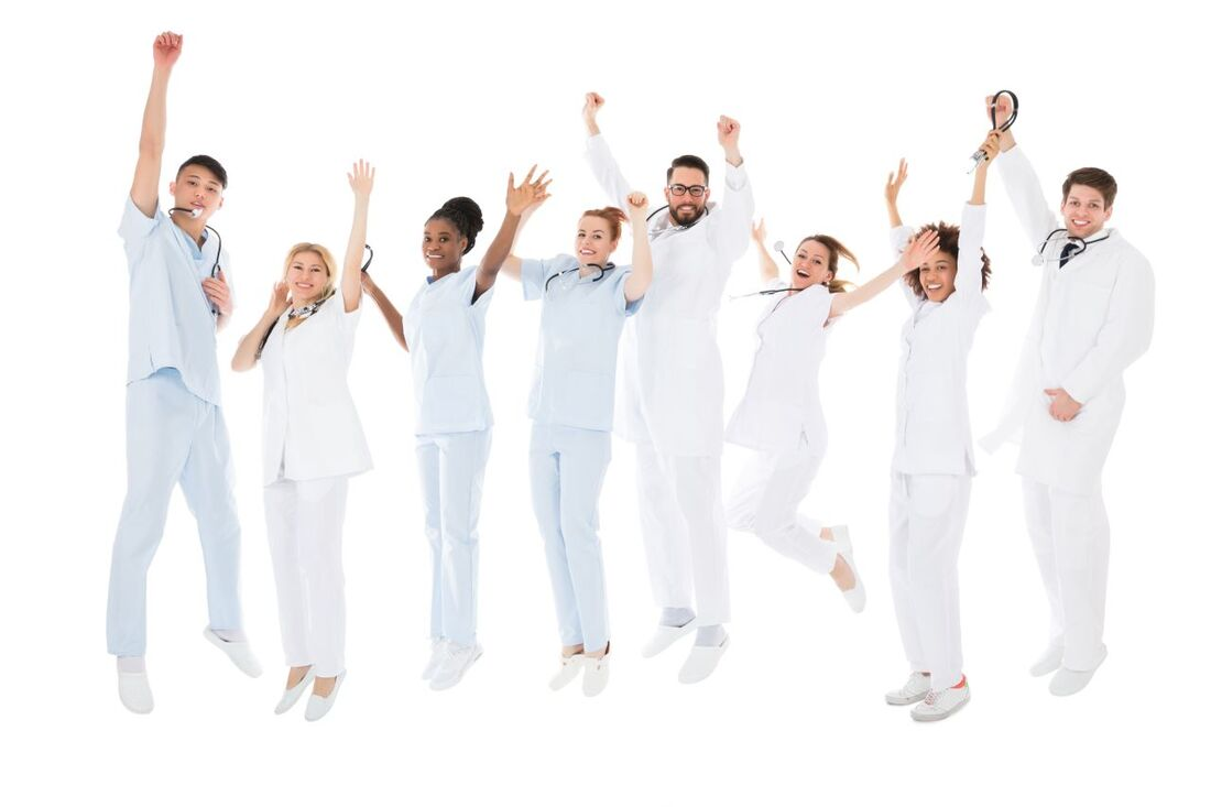Healthcare Professionals - Jumping in Joy